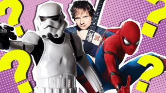 Stormtrooper, Ed Sheeran and Spider-Man