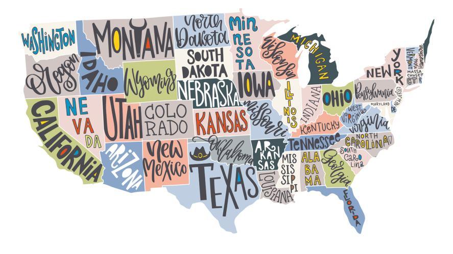 A USA map