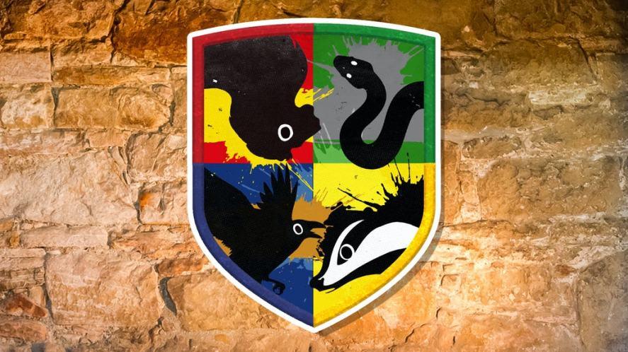 Hogwarts house shield