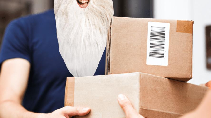 Dumbledore accepts a delivery
