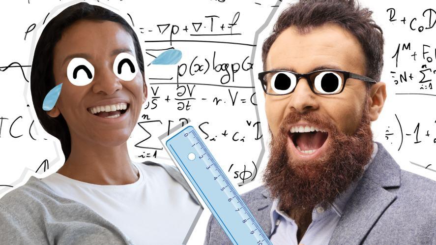 Two teachers chuckling