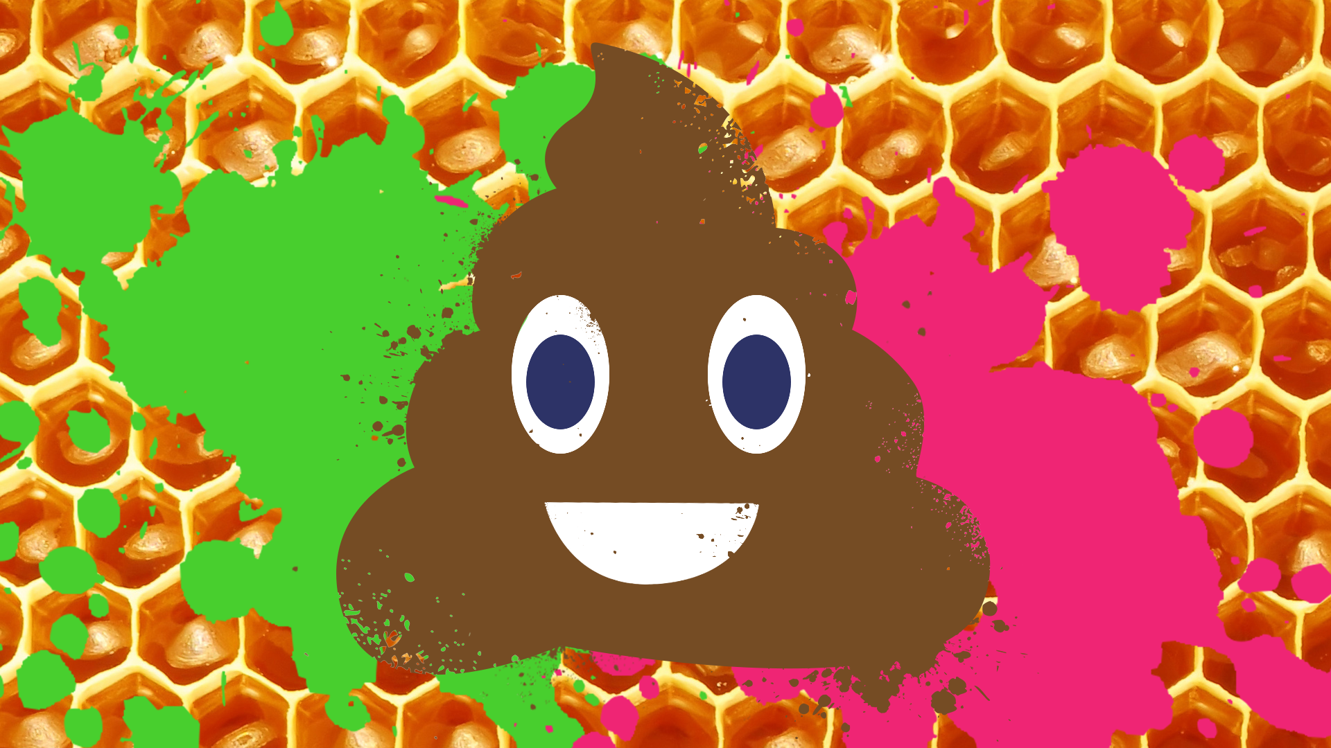 A smiling poo