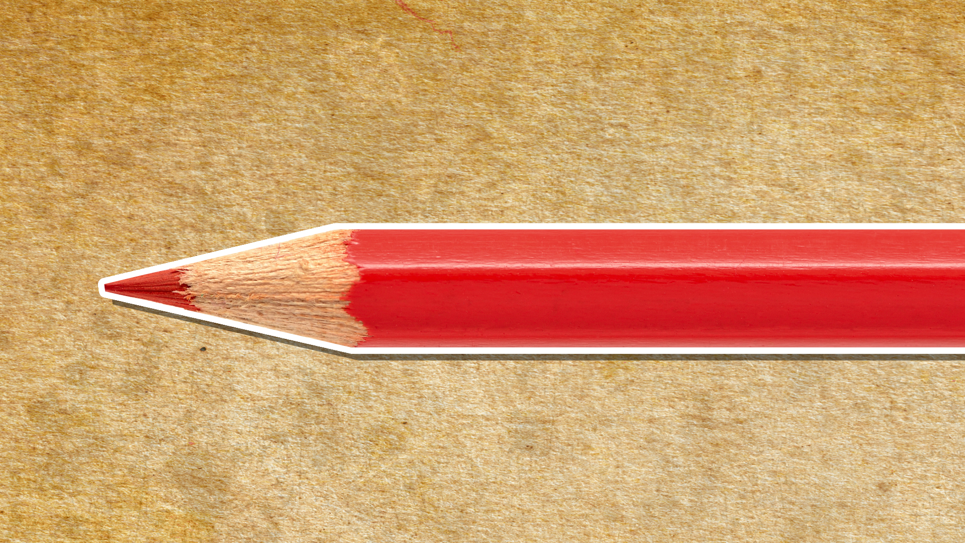 A red pencil