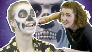 How to Do Spooky Halloween Fortnite Make-up