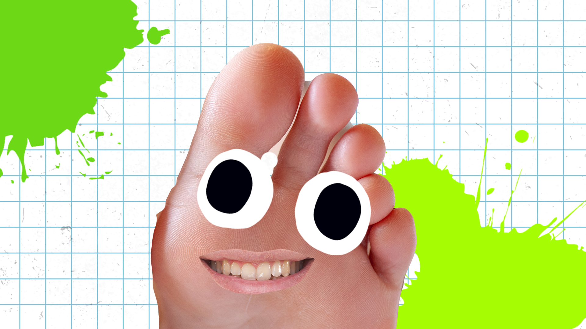 A smiling foot