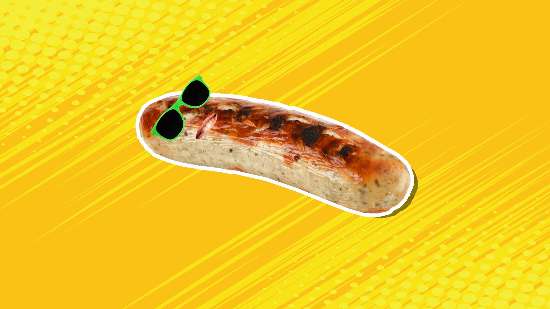 A sunbathing sausage