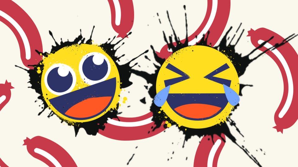 Two laughing emojis
