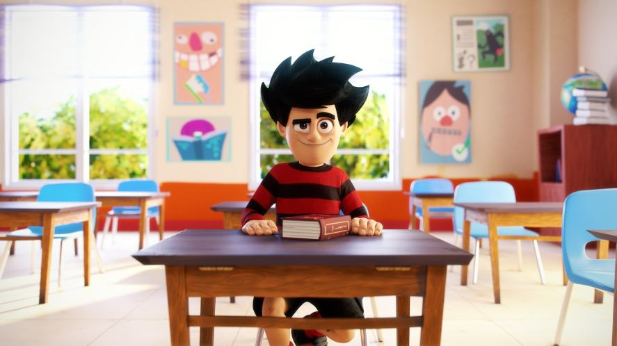 Dennis in the classroom
