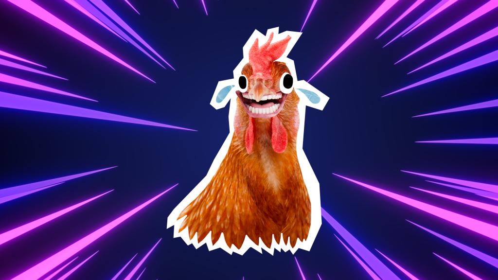 Chicken laughing