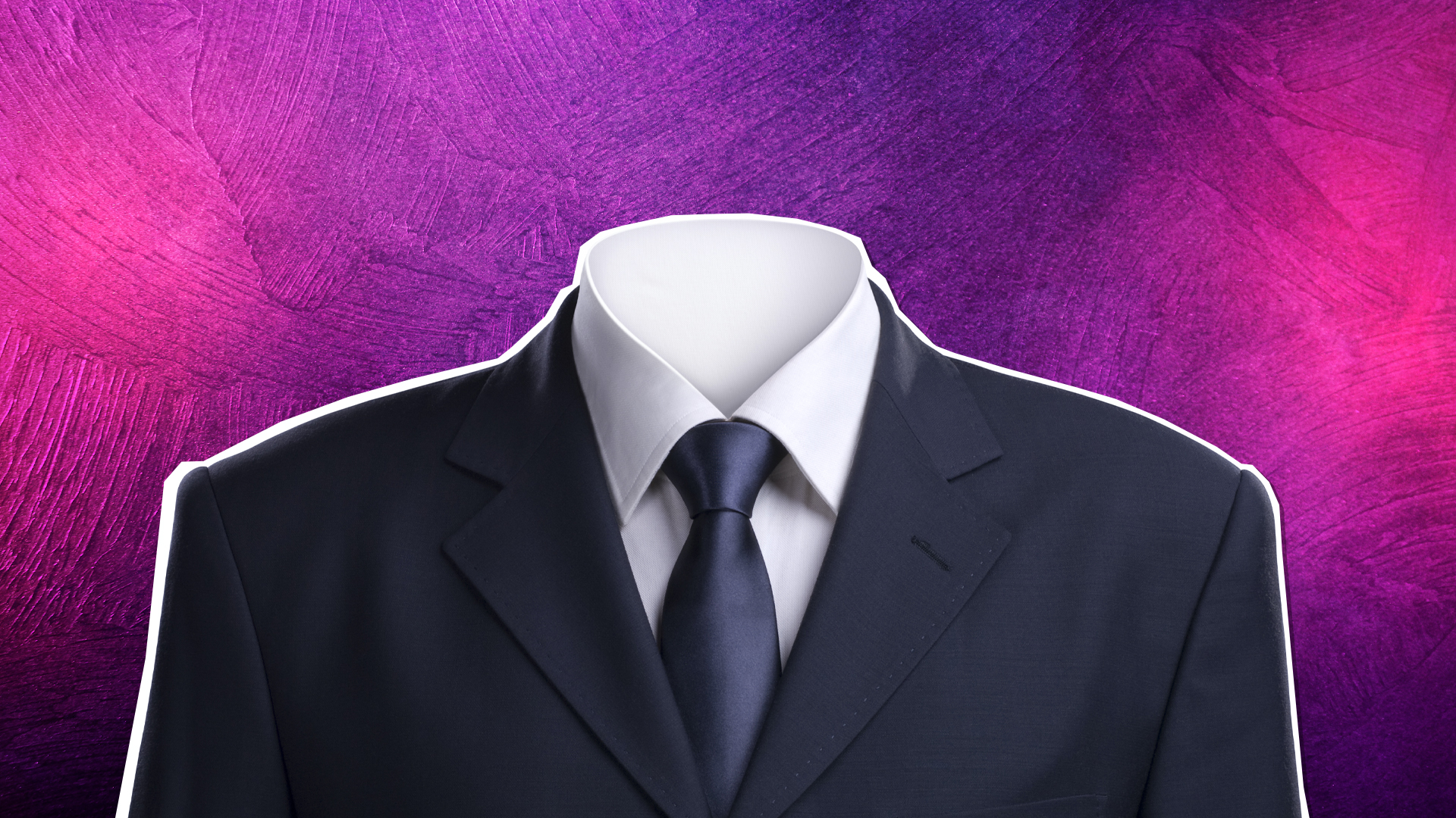 Invisible man in a suit
