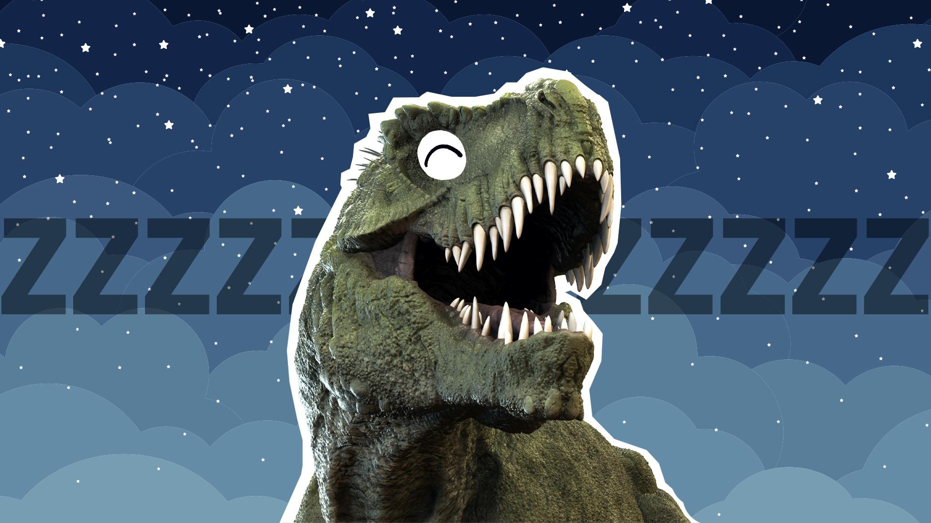 T-rex asleep