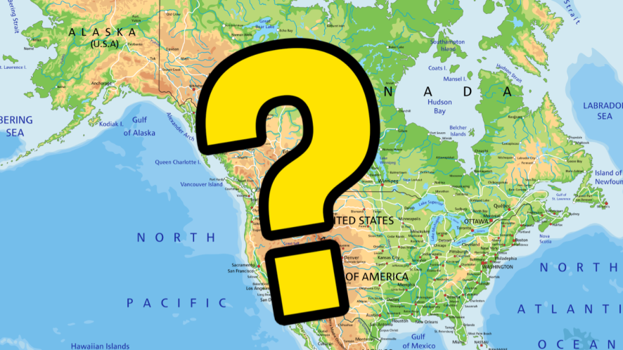 Map with question mark
