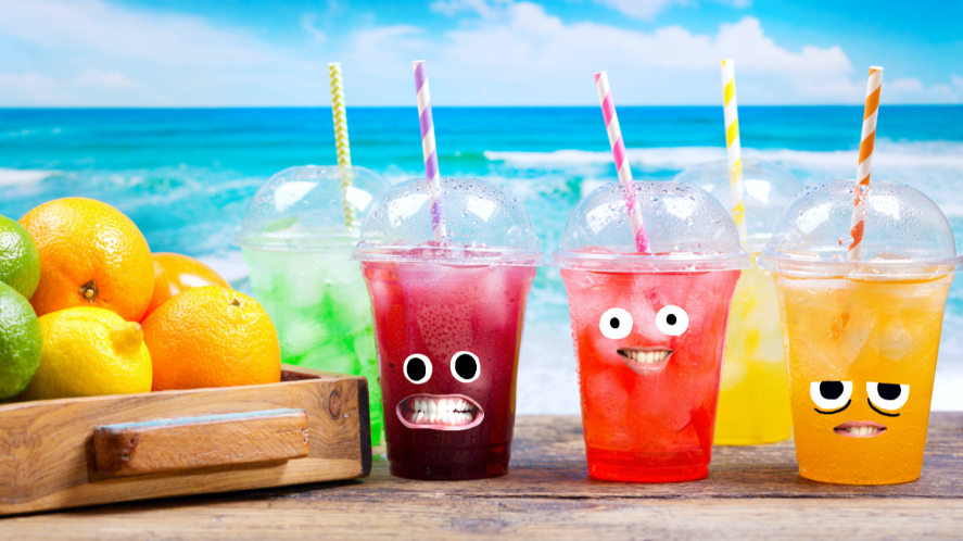 Cold drinks at the beach