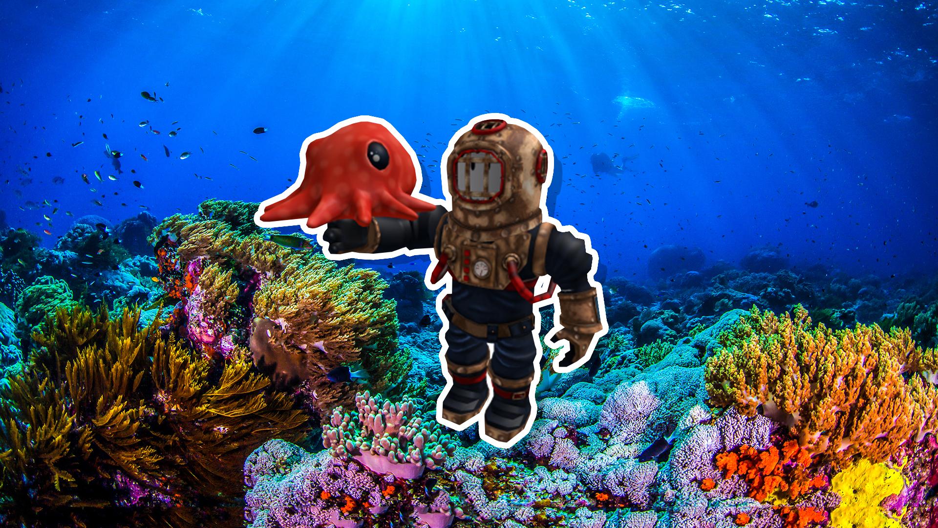 A deep sea diver