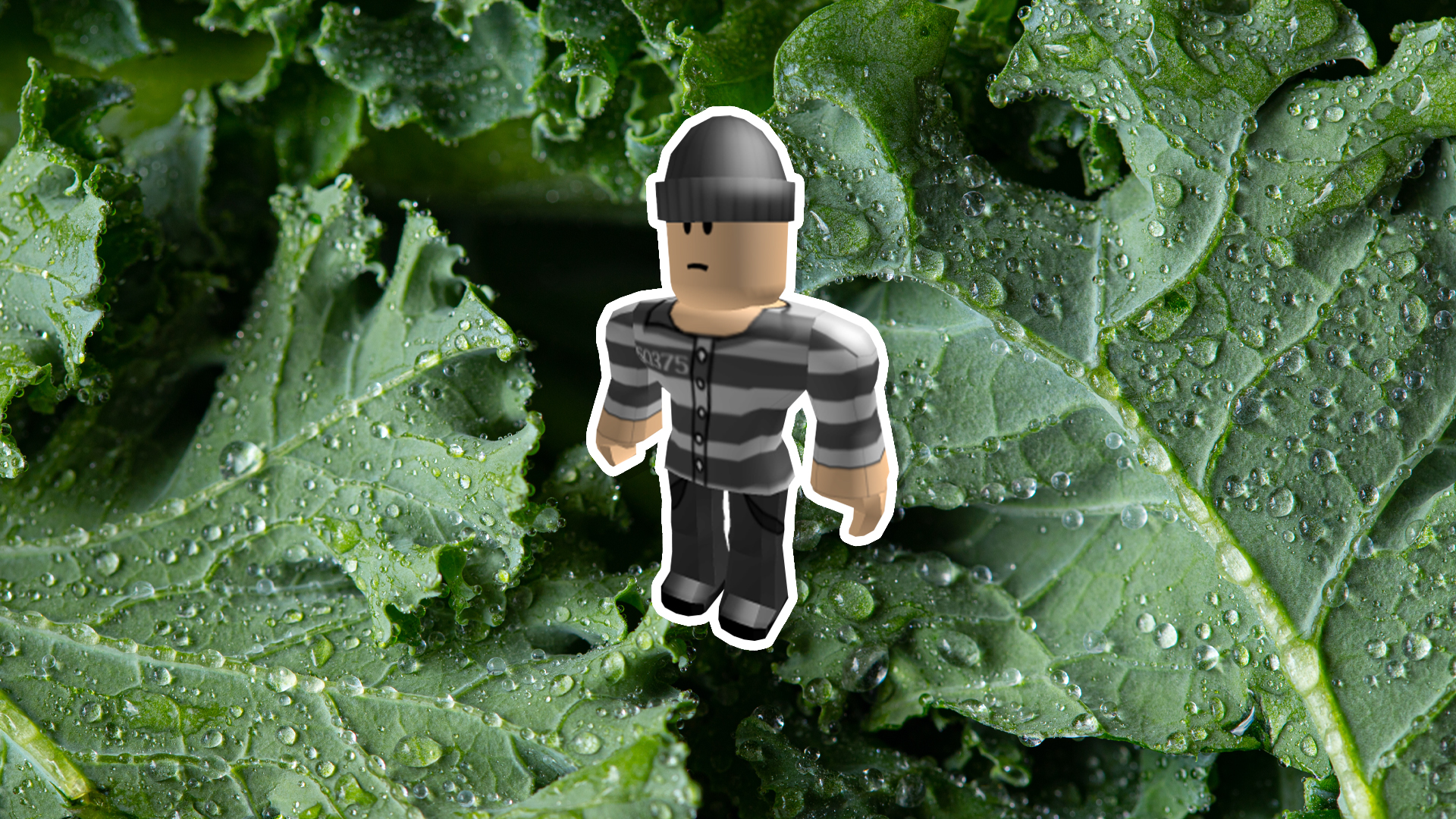 A criminal and a bunch of kale