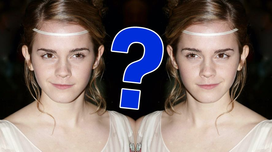 Emma Watson and her twin sister?