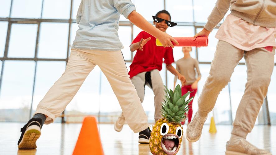 Children doing PE
