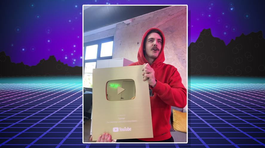 LazarBeam with a YouTube award