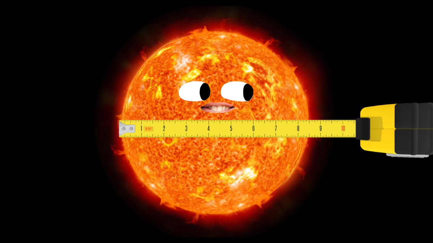The sun and a measuring tape