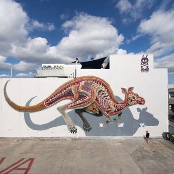 guts graffiti by nychos