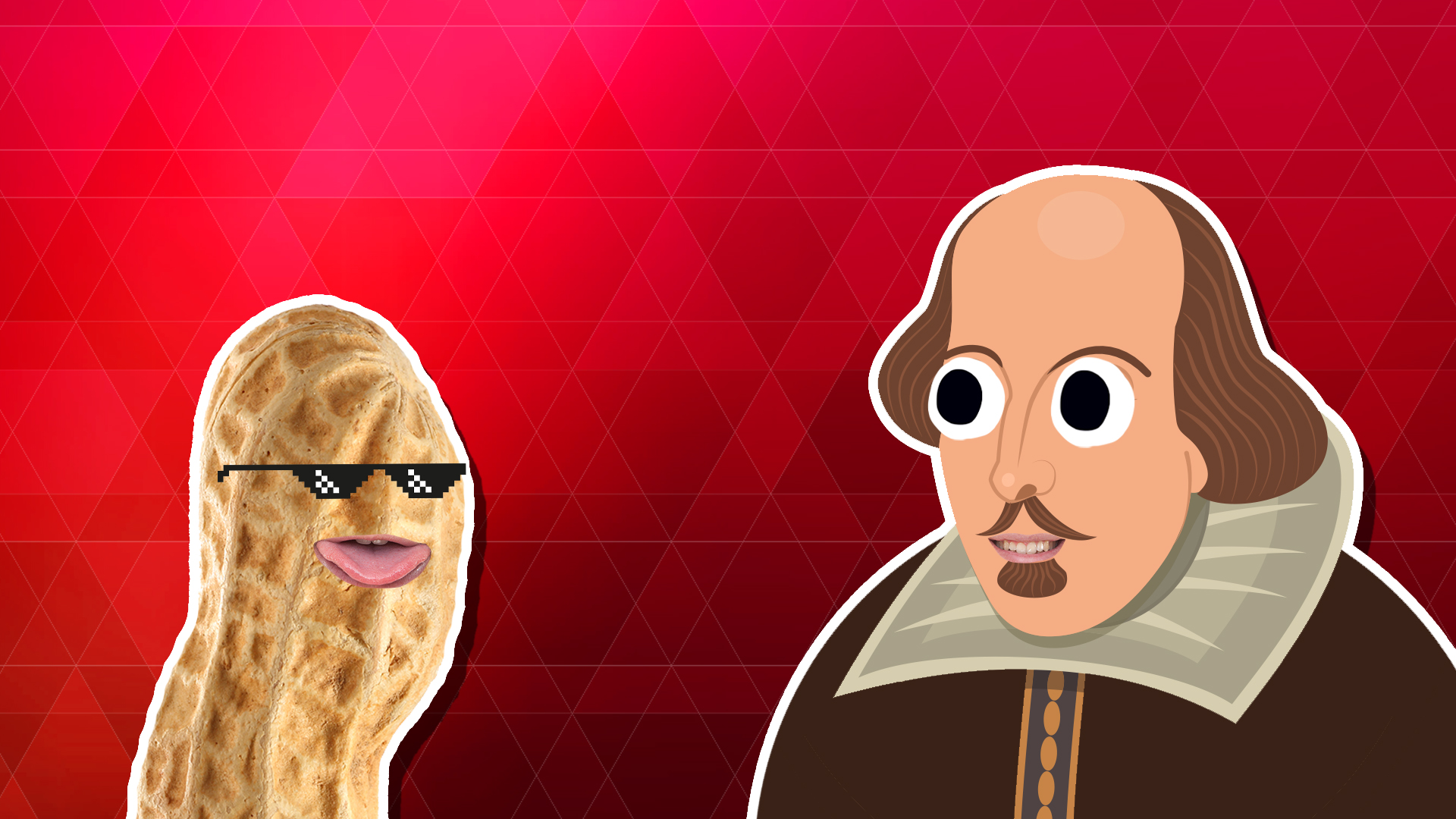 A peanut and William Shakespeare