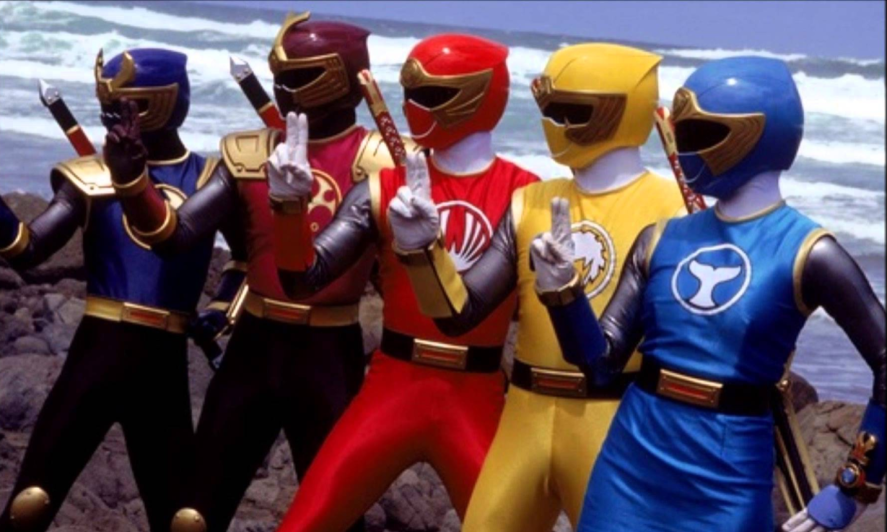 The Power Rangers lined up