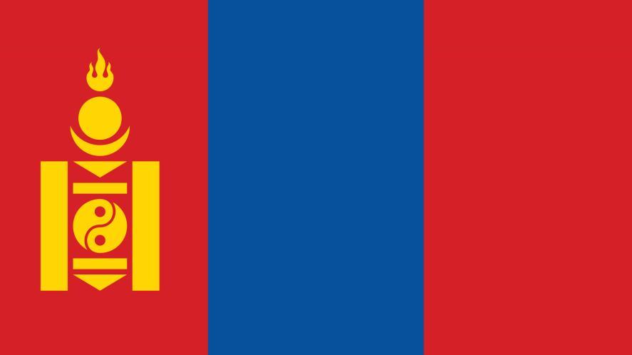 A red, blue and yellow flag