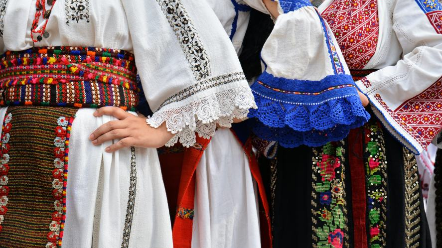 Beautiful traditional costumes from Dobrogea , Romania