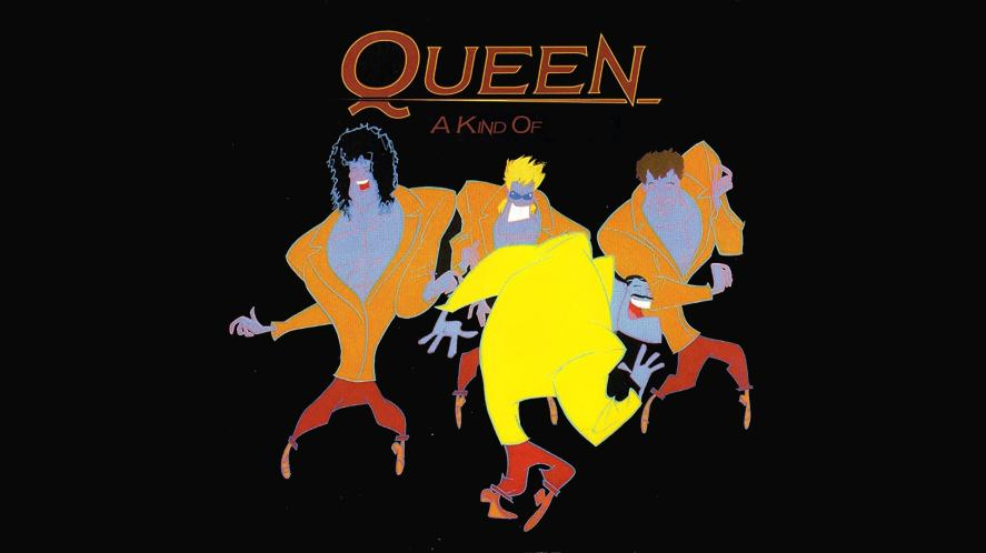 Queen artwork for a 1986 hit single