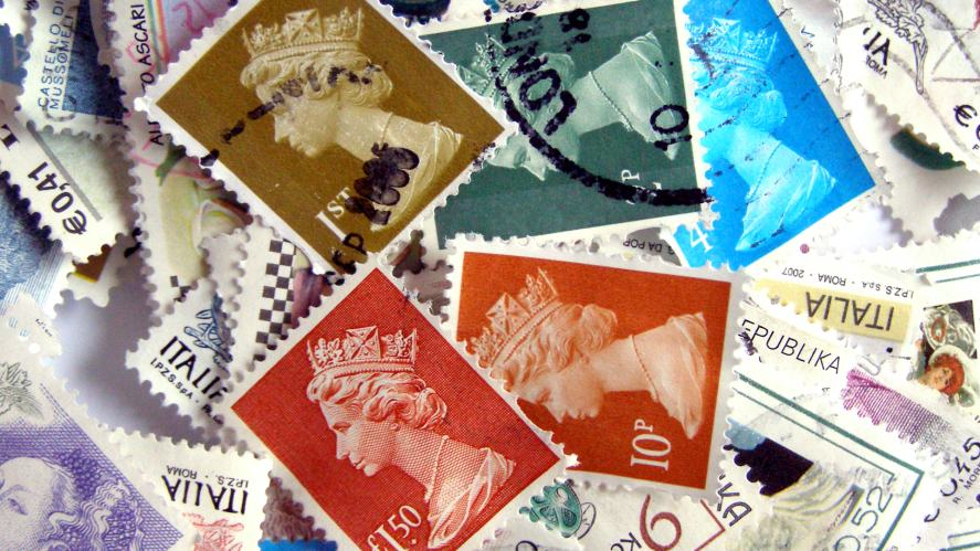 A collection of Royal Mail stamps