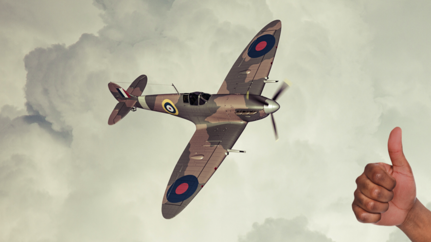 An RAF plane during the Battle of Britain