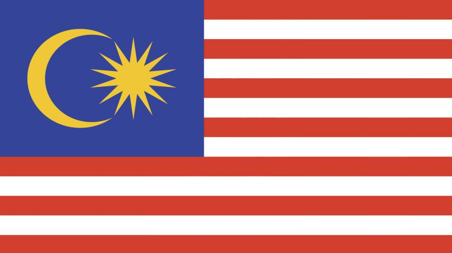 A flag with red and white stripes