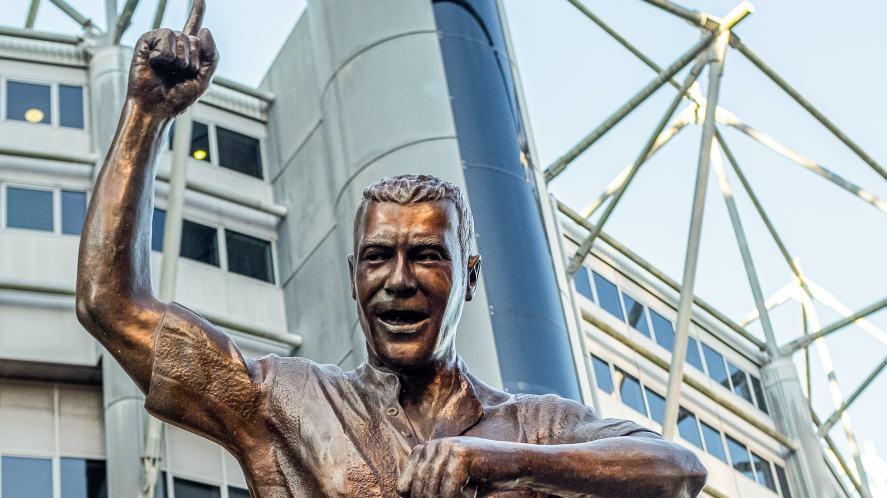 A statue of Alan Shearer