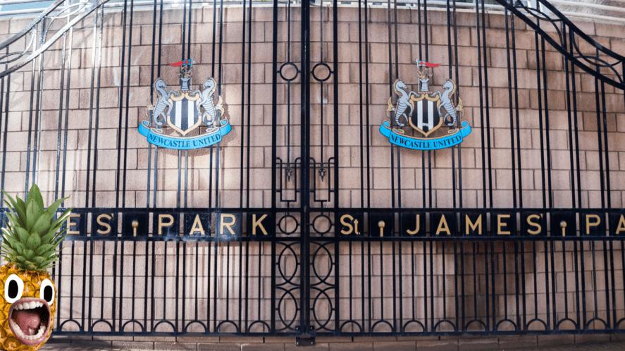 The gates at St James Park