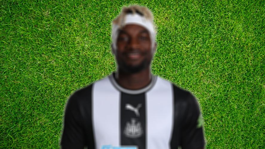 Blurred pic of footballer