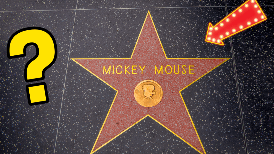 Mickey Mouse star on Hollywood Walk Of Fame