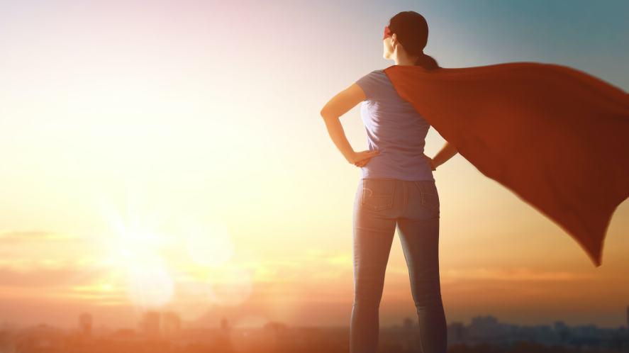 A posing superhero