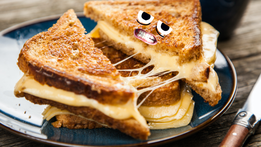 A cheese toastie
