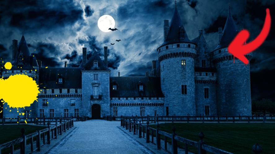 Spooky looking castle