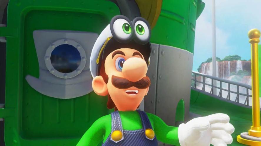 Luigi in Super Mario Odyssey
