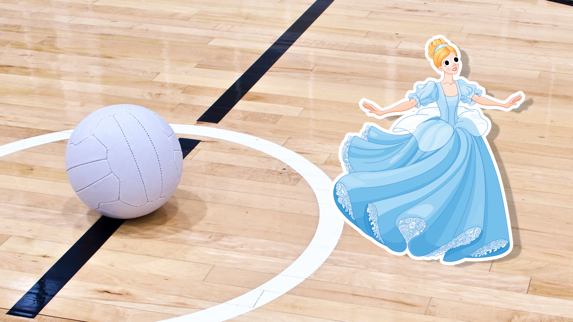 Cinderella on a netball court