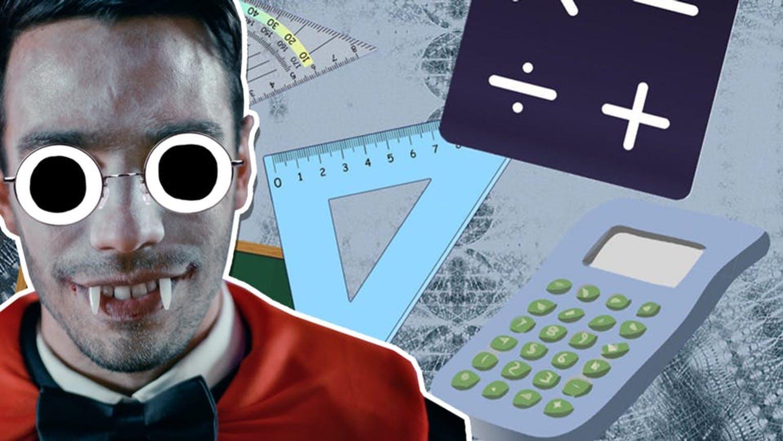 Dracula and maths equipment