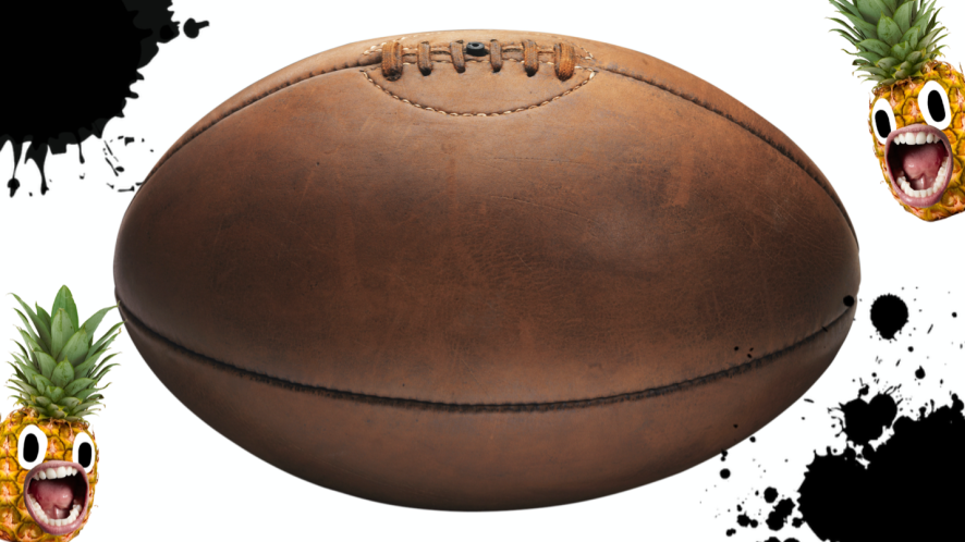 An old rugby ball