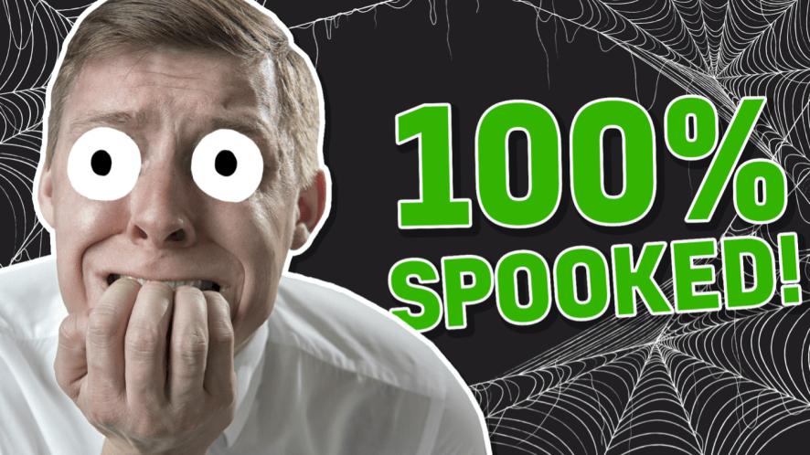 A 100 per cent spooked man, a quivering chap