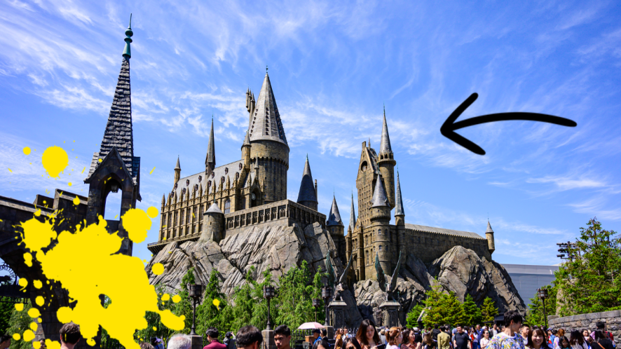 Harry Potter World Japan with Beano stickers