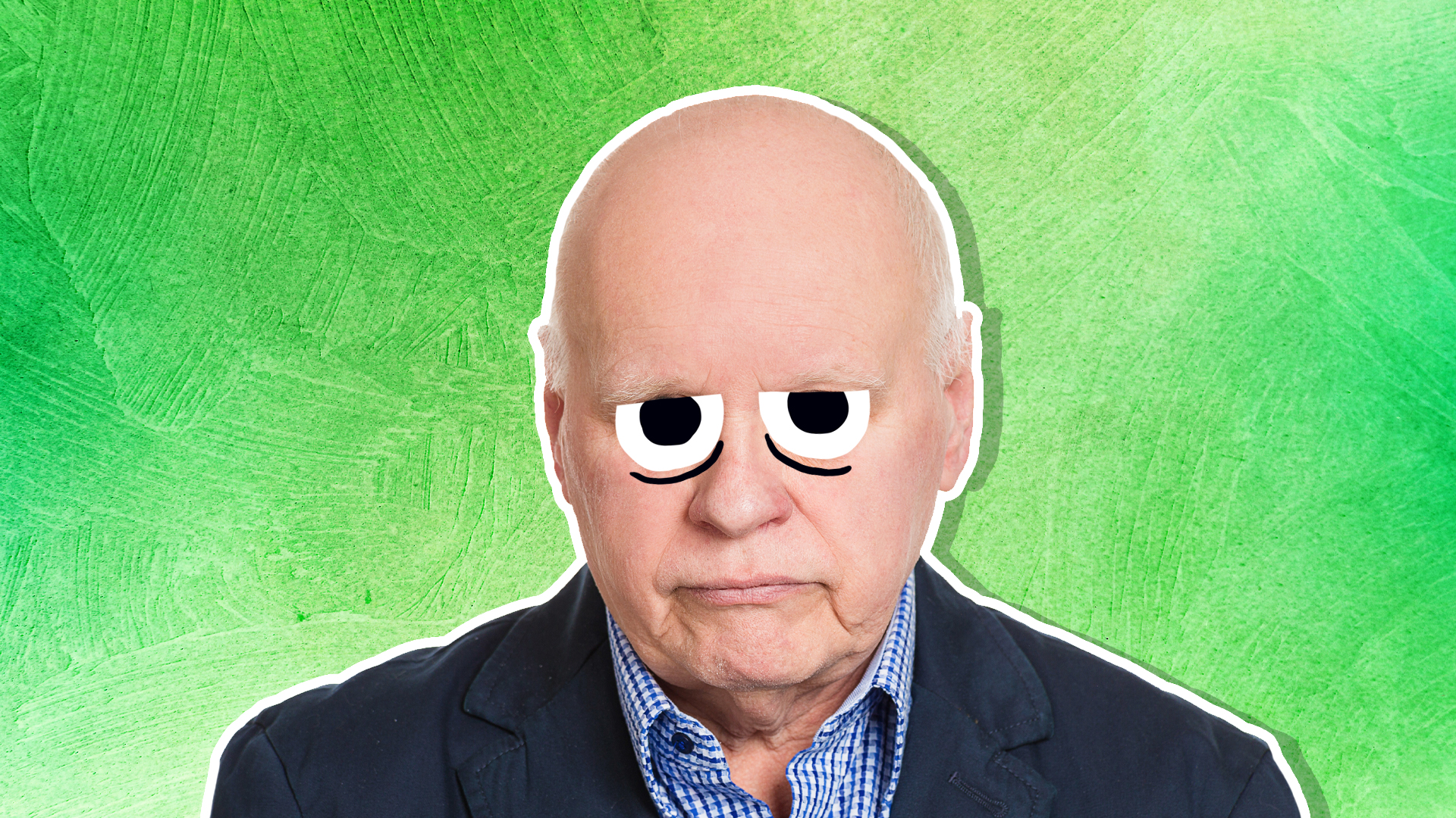 An elderly gentleman looking a little unhappy