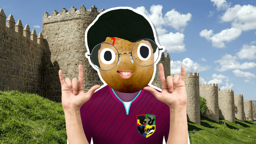 Harry Potter in Quidditch kit