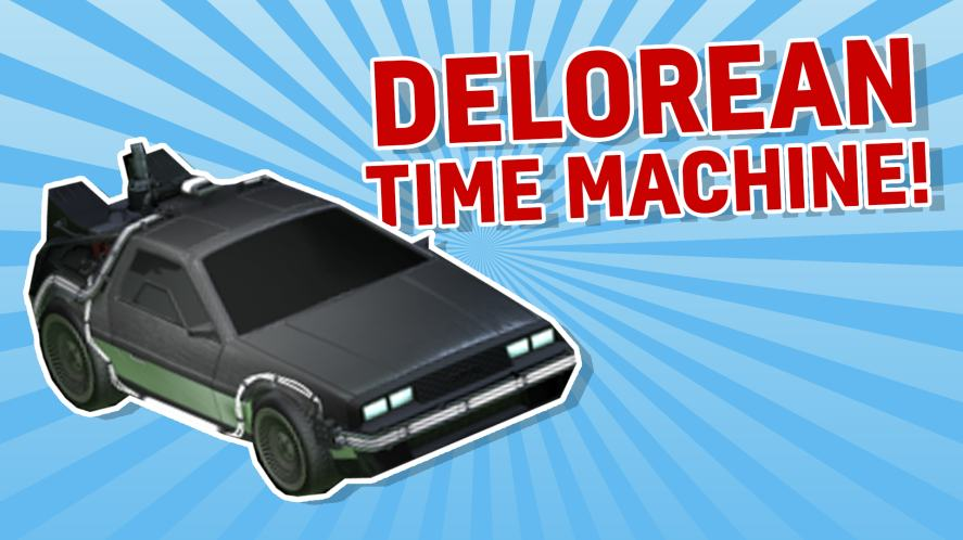 DELOREAN TIME MACHINE ROCKET LEAGUE CAR