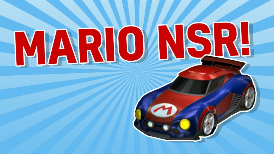 MARIO NSR ROCKET LEAGUE CAR