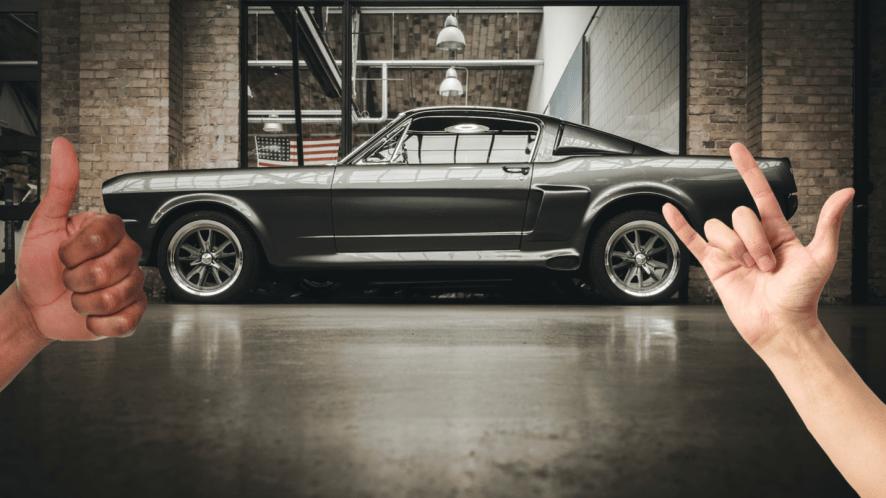 A cool classic car